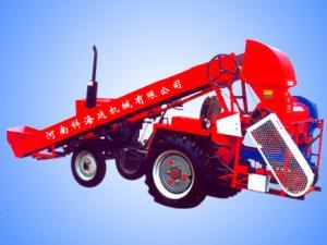 Semi automatic feeding corn thresher