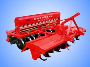 Rotary tillage wheat seeder